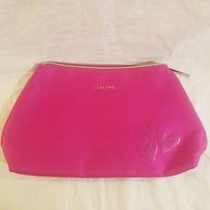 Lancome Makeup Cosmetic Pink Case Bag